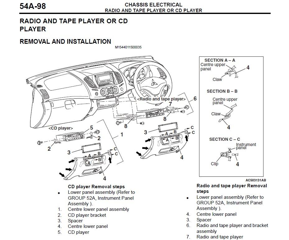 2002 mitsubishi triton radio wiring diagram wiring diagram 2002 mitsubishi lancer oz rally radio wiring diagram
